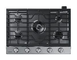 "Samsung 30"" Gas Cooktop with 19K BTU Dual Burner in Stainless Steel NA30N6555TS"