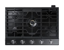 "Samsung 30"" Gas Cooktop with 22K BTU Dual Burner in Black Stainless Steel NA30N7755TG"