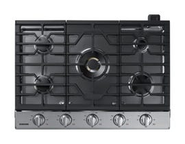 "Samsung 30"" Gas Cooktop with 22K BTU Dual Burner in Stainless Steel NA30N7755TS"