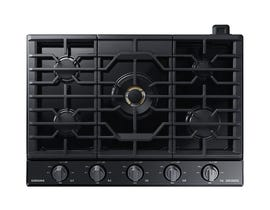 """Samsung 30"""" Chef Collection Gas Cooktop in Black Stainless Steel NA30N9755TM"""