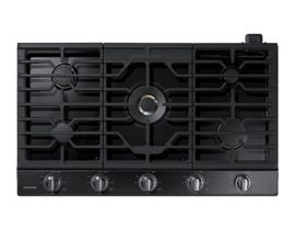"Samsung 36"" Gas Cooktop with 22K BTU Dual Burner in Black Stainless Steel NA36N7755TG"