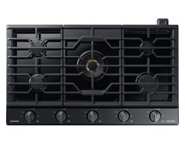 "Samsung 36"" Chef Collection Gas Cooktop in Stainless Steel NA36N9755TS"
