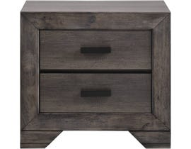 High Society Nathan Night Stand in Grey NH100NS
