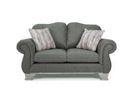 Decor-Rest Fabric Loveseat in Nation Charcoal 6933