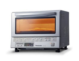 Panasonic FlashXpress Toaster Oven with Double Infrared Heating in Silver NBG110P
