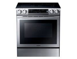 Samsung 30 inch 5.8 cu.ft. Electric Range Self-Cleaning Dual Convection Oven in Stainless Steel NE58F9500SS