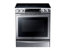 Samsung 30 inch 5.8 cu. ft. Electric Range Self-Cleaning Double Convection Oven in Stainless Steel NE58F9710WS
