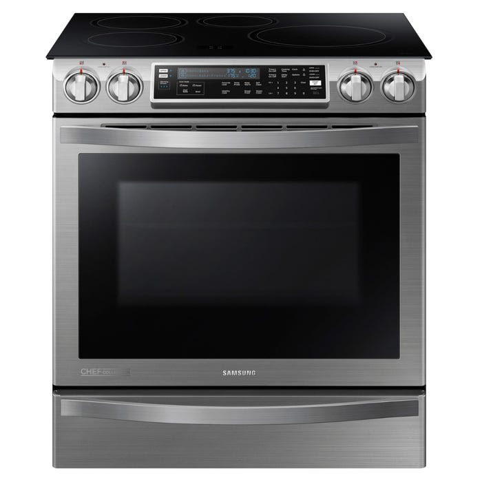 SAMSUNG 30 inch 5.8 cu.ft Induction Range with Virtual Flame Technology in Stainless Steel NE58H9970WS