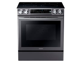 Samsung 30 inch 5.8 cu.ft. Electric Range with Slide-in Design in black stainless NE58K9500SG