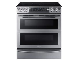 Samsung 30 inch 5.8 cu. ft.  Electric Range with Flex Duo in stainless steel NE58K9850WS