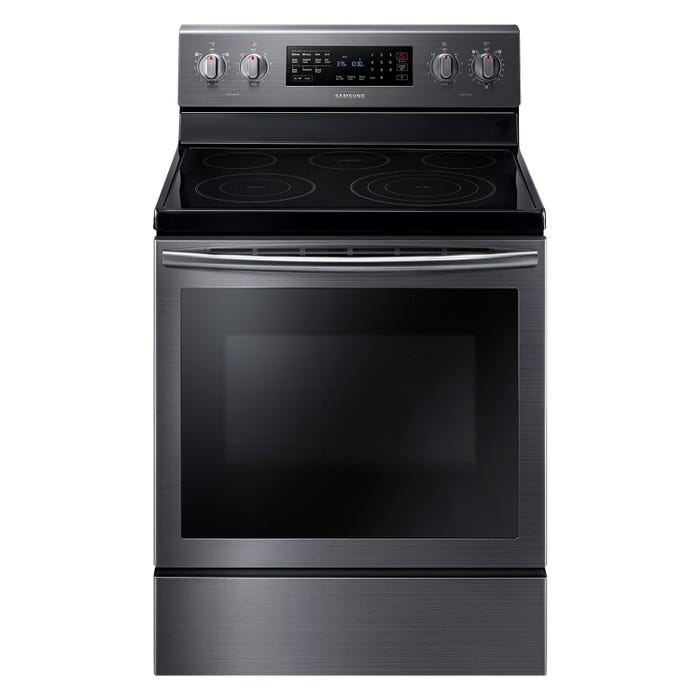 Samsung 30 inch 5.9 cu. ft. Electric Range with True Convection in black stainless NE59M7630SG