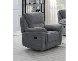 Neal Manual Reclining Chair With Wireless Charger In Grey 5587 C GR