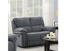 Neal Manual Reclining Loveseat With Wireless Charger In Grey 5587 L GR