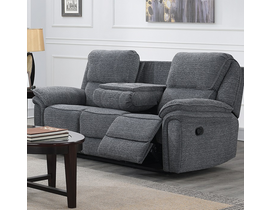 Neal Manual Reclining Sofa With Wireless Charger In Grey 5587 S GR