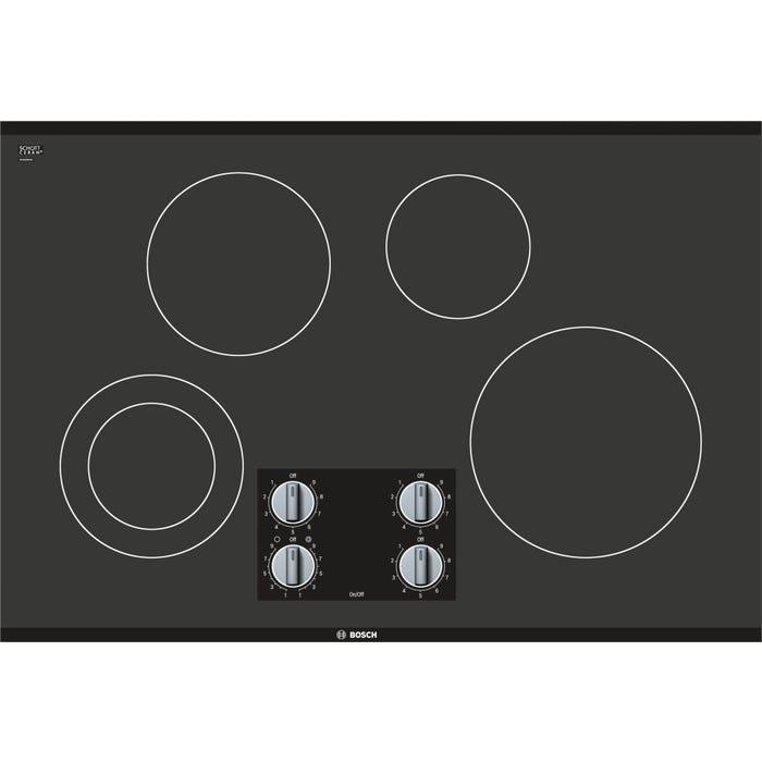 Bosch 30 inch Electric Cooktop 500 series in Black frameless NEM5066UC