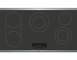 Bosch 800 Series 36 inch 5-Element Electric Cooktop in Black NET8668SUC
