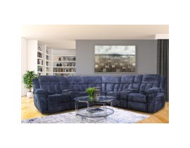 Cosmic Chenille 3Pc Sectional in Cosmic Grey 3180