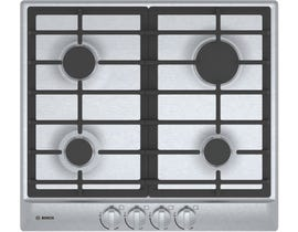 Bosch 24 inch Built-in Smooth Top Electric Cooktop 500 series in Black with Stainless Steel strips NET5466SC