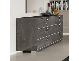 M.A.Z Sarah Alla Moda Series Dresser and Mirror in Grey 4900