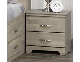 Modern Furniture Engineered Wood Nightstand in Continental Coast 5600