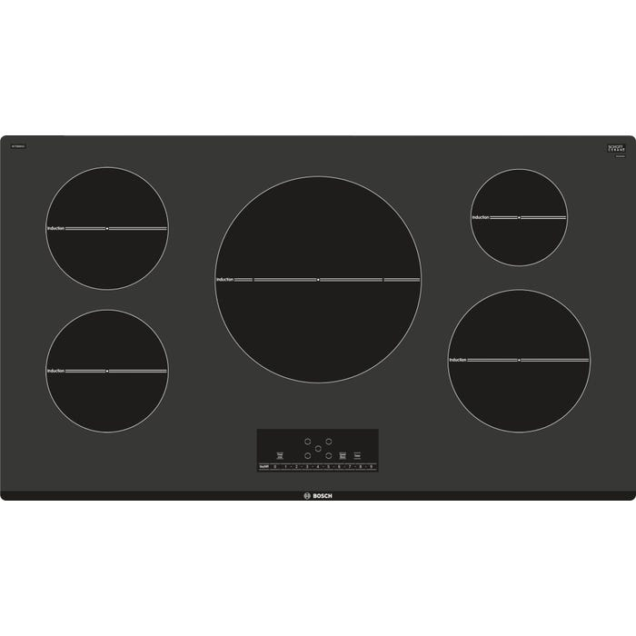 Bosch 36 inch Smooth top induction frameless cooktop 500 series in black NIT5668UC