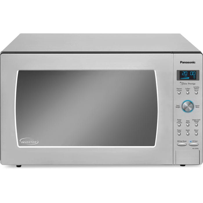 Panasonic 24 inch 2 2 cu ft  Full Size Cyclonic Inverter count-top  Microwave in Stainless Steel NNSD986S