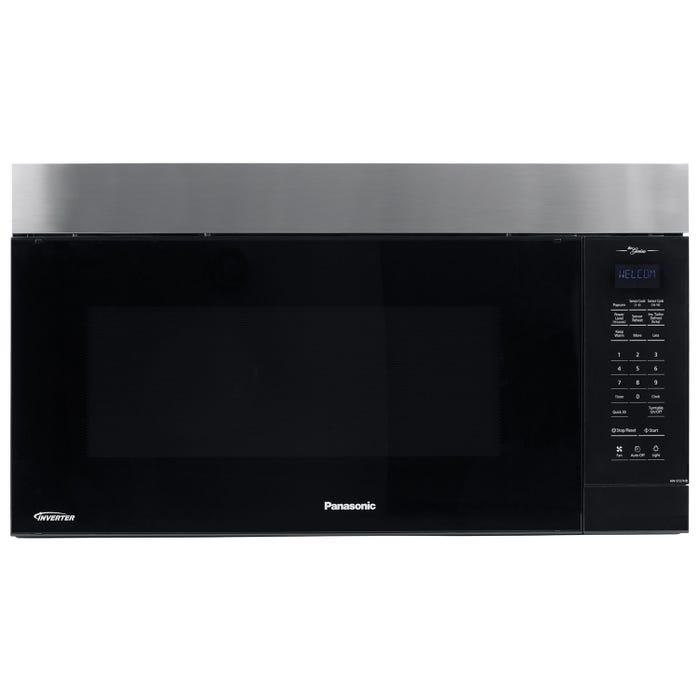 Panasonic 30 inch 2.0 cu. ft. Genius Prestige Plus Over-the-Range Microwave in Black/Stainless Steel NNST27HB