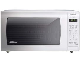 Panasonic 21 inch 1.6 cu.ft. Genius Inverter Countertop Microwave Oven in White NNST766W