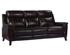 Amalfi Nora Series Leather Power Reclining Sofa in Two Tone Dark Brown 9800