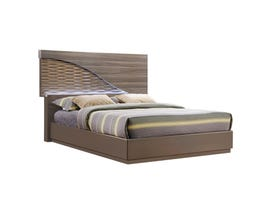 Global Furniture North queen bed zebra wood gold line north