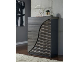 Global Furniture North Chest Zebra Wood/ Gold Line