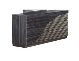 Global Furniture North Dresser Zebra Wood/ Gold Line