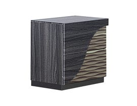 Global Furniture North Nightstand Zebra Wood/ Gold Line