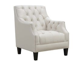 High Society Norwalk Series Accent Chair in Snow 668