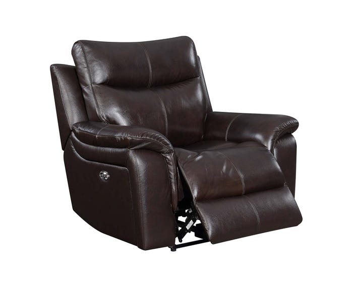 Remarkable High Society Nova Leather Power Recliner Brown Unaxx Pdpeps Interior Chair Design Pdpepsorg