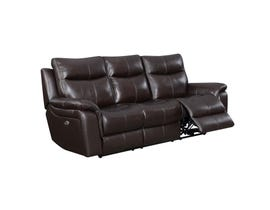 High Society Nova Leather Power reclining Sofa Brown UNAXX