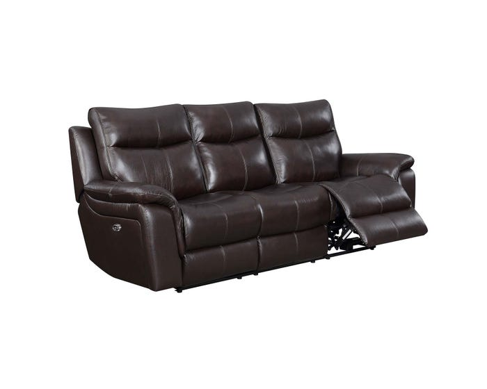 Miraculous High Society Nova Leather Power Reclining Sofa Brown Unaxx Pdpeps Interior Chair Design Pdpepsorg