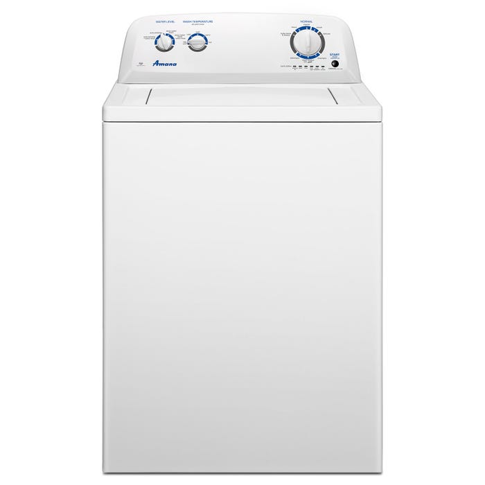 Amana 27 inch 4.0 cu. ft. Top Load Washer With Dual Action Agitator in white NTW4516FW