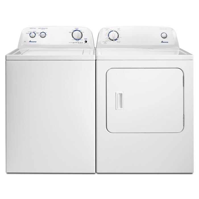 Amana Washer and Dryer Laundry Pair Top Load NTW4516FW-YNED4655EW