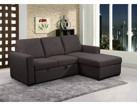 Primo Nunzio Convertible Sectional in Dark Grey