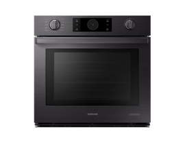 "Samsung 30"" 5.1 cu. ft. Chef Collection Single Wall Oven with Flex Duo in Black Stainless Steel NV51M9770SM"