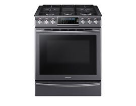 Samsung 30 inch 5.8 cu. ft. Gas Range with 18K Dual Power Burner in stainless steel NX58K9500WG