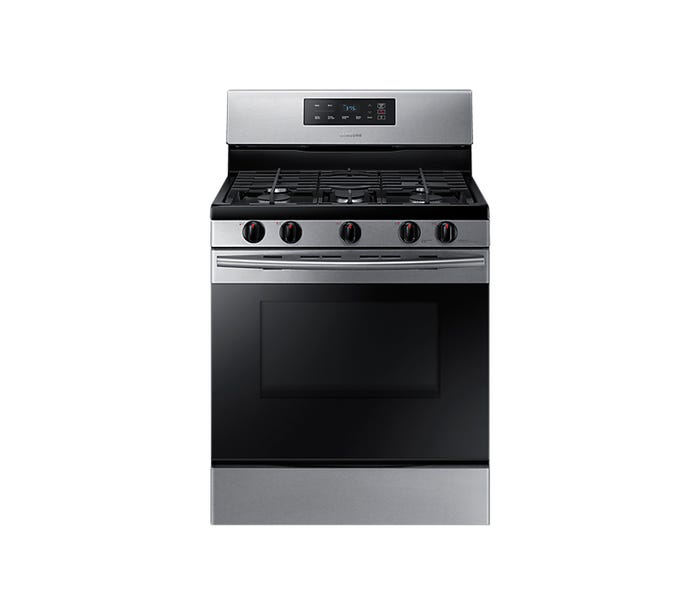 Samsung 30 inch 5.8 cu.ft. freestanding gas range in stainless steel NX58M3310SS