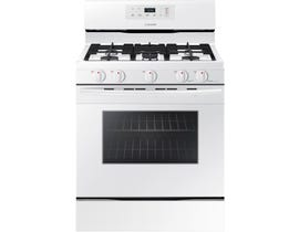 Samsung 30 inch 5.8 cu.ft. gas range freestanding in white NX58M3310SW