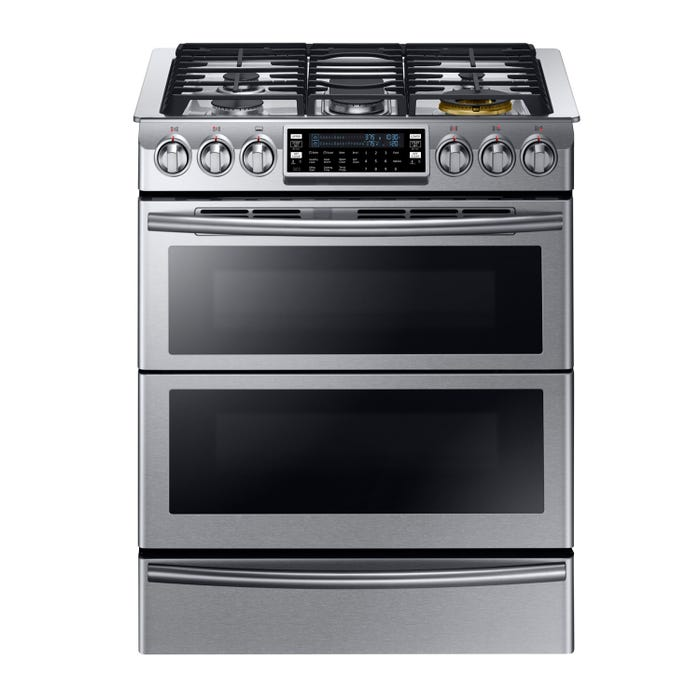 Samsung 30 inch 5.8 cu. ft. with Dual Fuel Range Technology in stainless steel NY58J9850WS
