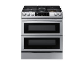 "Samsung 30"" 6.3 cu. ft. Dual Fuel Range with True Convection & Air Fry in Stainless Steel NY63T8751SS"