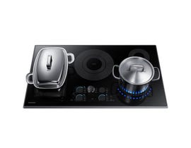 Samsung 36 inch 4-Burner Smooth Top Electric Cooktop in black stainless NZ36K7880UG