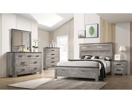High Society Millers Cove Series 6Pc Queen Bedroom Set in Weathered Grey MC300