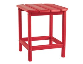 Signature Design by Ashley Sundown Treasure Rectangular End Table in Red P013-703