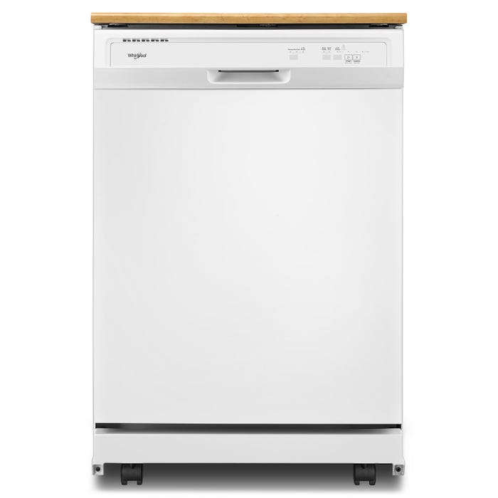Whirlpool 24 Inch Heavy Duty Portable Dishwasher in White WDP370PAHW